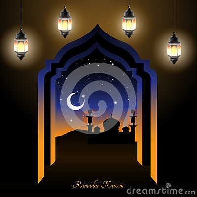 Ramadan night Vector Illustration