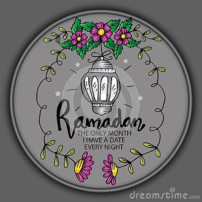 Free Ramadan The Only Month I Have A Date Every Night. Stock Photography - 145005382