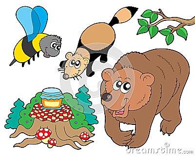 Ramassage 2 d animaux de forêt