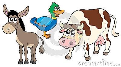 Ramassage 3 d animaux de ferme