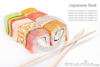 Ramassage de roulis de sushi