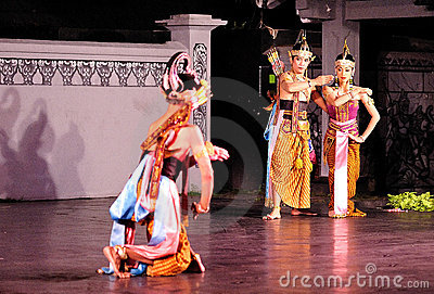 The Ramayana dance performance Editorial Stock Image