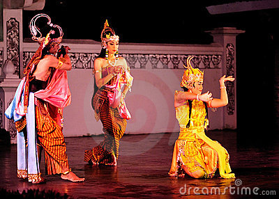 The Ramayana dance performance Editorial Stock Photo