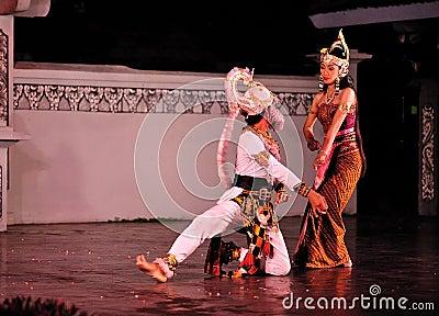 The Ramayana dance performance Editorial Stock Image