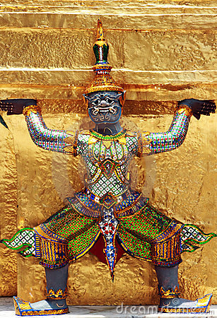 Ramayana figure at Wat Prakaew Thailand