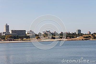 Rambla in Montevideo Uruguay