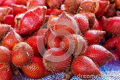 Rambutan fruits on the market