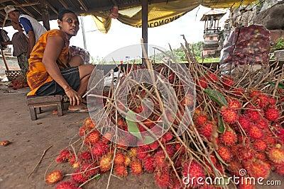 Rambutan producer Editorial Stock Photo