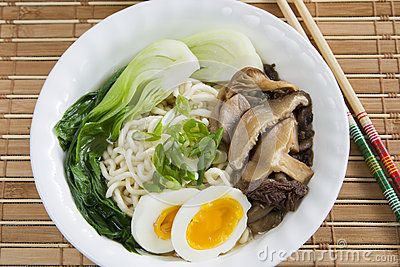 Ramen Noodle Mushroom Soup