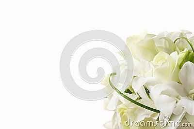 Ramo blanco de la boda