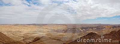 Ramon Canyon panorama, Israel