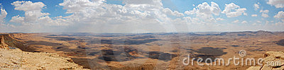 Ramon Canyon panorama, Israel