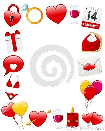 Ramowy fotografii st valentine