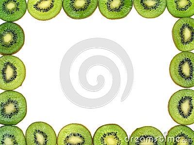 Ramowy owoce kiwi