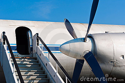 Ramp of an airplane