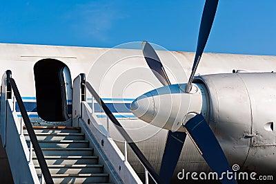 Ramp of an airplane
