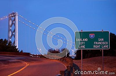 Ramp leading to the san francisco bay bridge