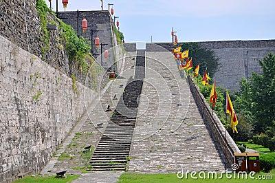 Ramp of Zhonghua Gate in Nanjing