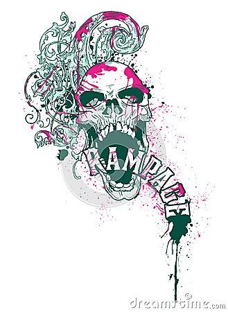 Rampage Skull Design