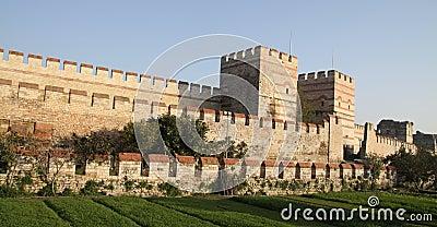 Rampart di Costantinopoli, Turchia.