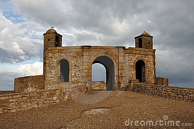 Rampart in Essaouria, Morocco