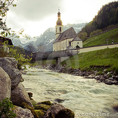 Free Ramsau Chruch Stock Photo - 5274950