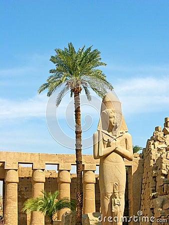 Ramses II statue in Karnak Temple