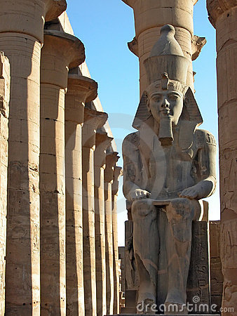 Free Ramses II Watches Over Luxor Temple, Egypt Stock Photos - 763603