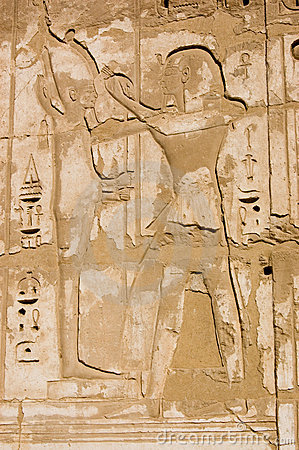 Ramses and Ptah Ancient Egypt Hieroglyph
