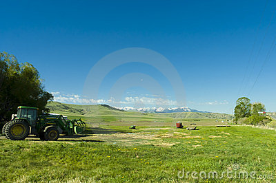 Ranch in the mountains of Montana state Editorial Stock Image