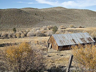 Ranch setting on the Eastern Sierra Nevada