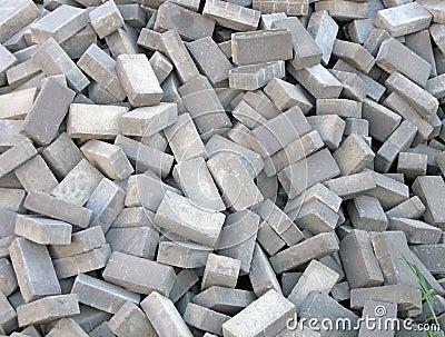 Random brick heap, industry details,