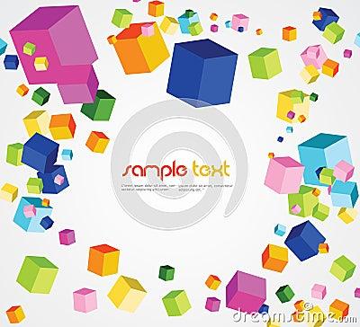 Random cube background