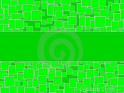Random Green Squares Background With Center Space
