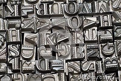 Random letterpress type
