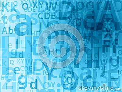 Random letters background