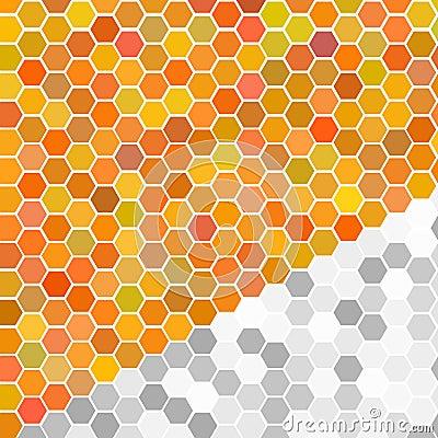 Random orange seamless tiles