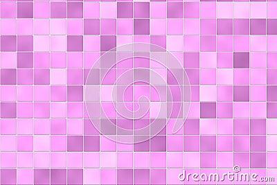 Random pink bathroom tiles
