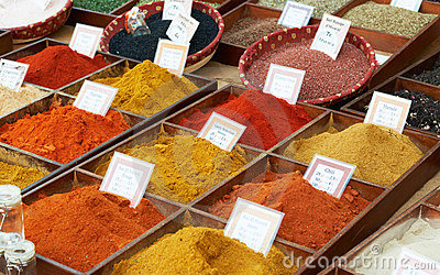 Random spices at Provence market