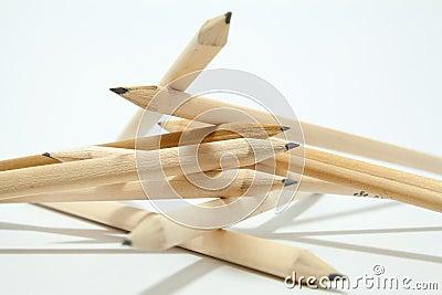 Randomly arranged pencils