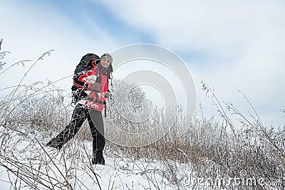 Randonneur sur la neige