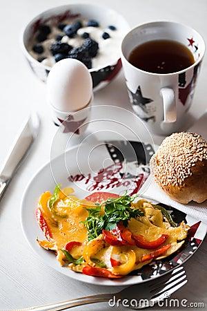 Ranek śniadanie