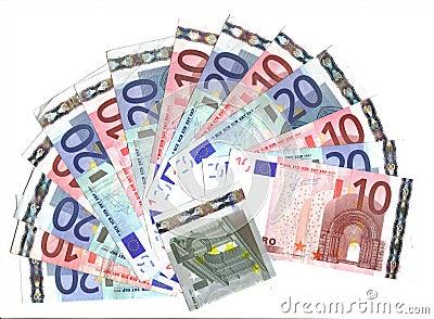 Range of 10/20 euro