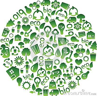 Range of eco icons
