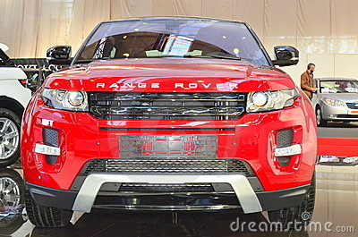 Range Rover Evoque - front view - SIAB 2011 Editorial Image