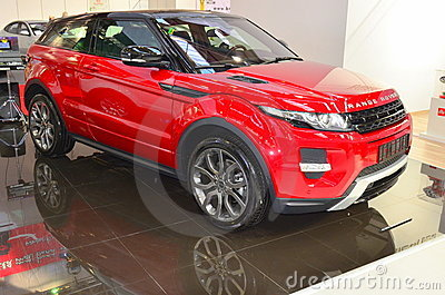 Range Rover Evoque at SIAB 2011 Editorial Stock Photo