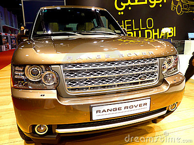Range Rover Model Editorial Image