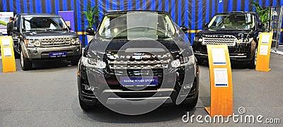 Range Rover presentation stand at SAB 2014 Editorial Stock Image