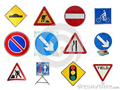 Range of traffic signs