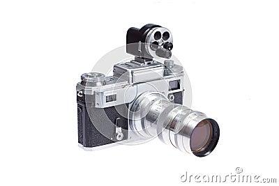 Rangefinder camera with additional viewfinder